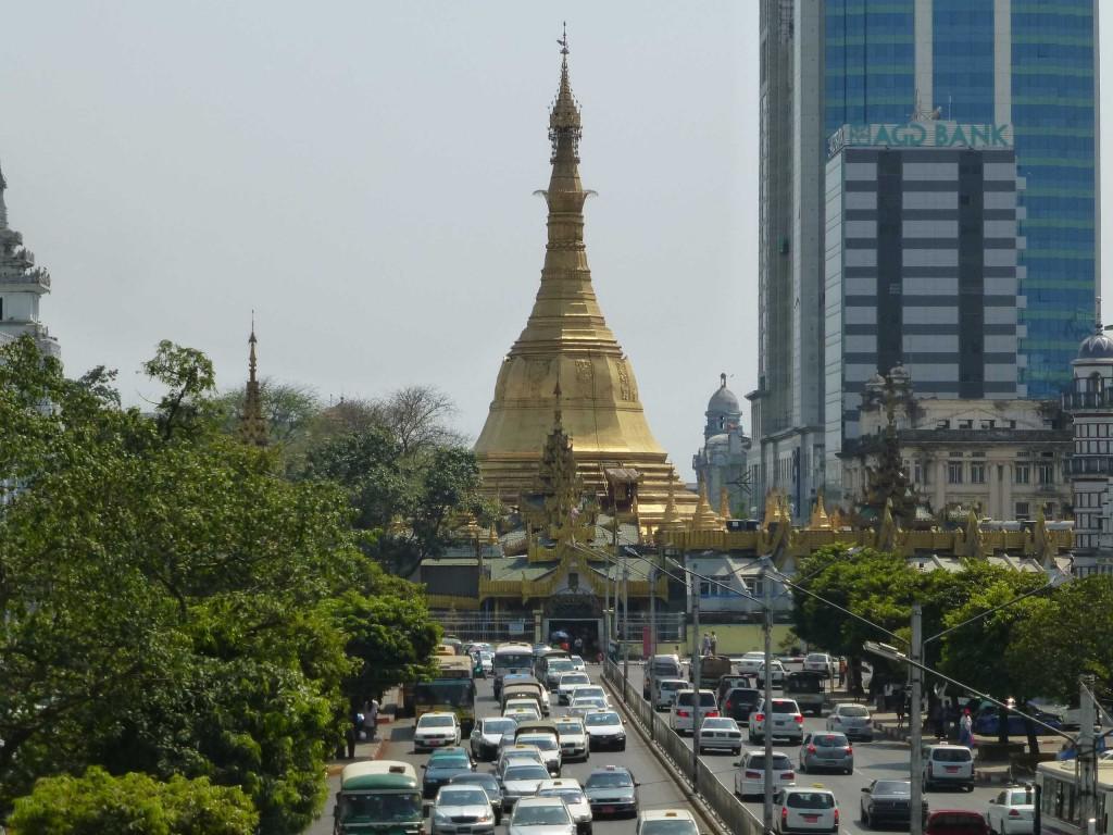 Пагода Суле - центр Даунтауна