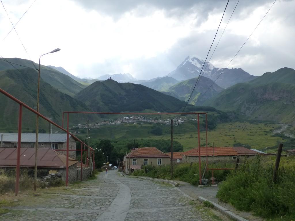 На улицах Казбеги