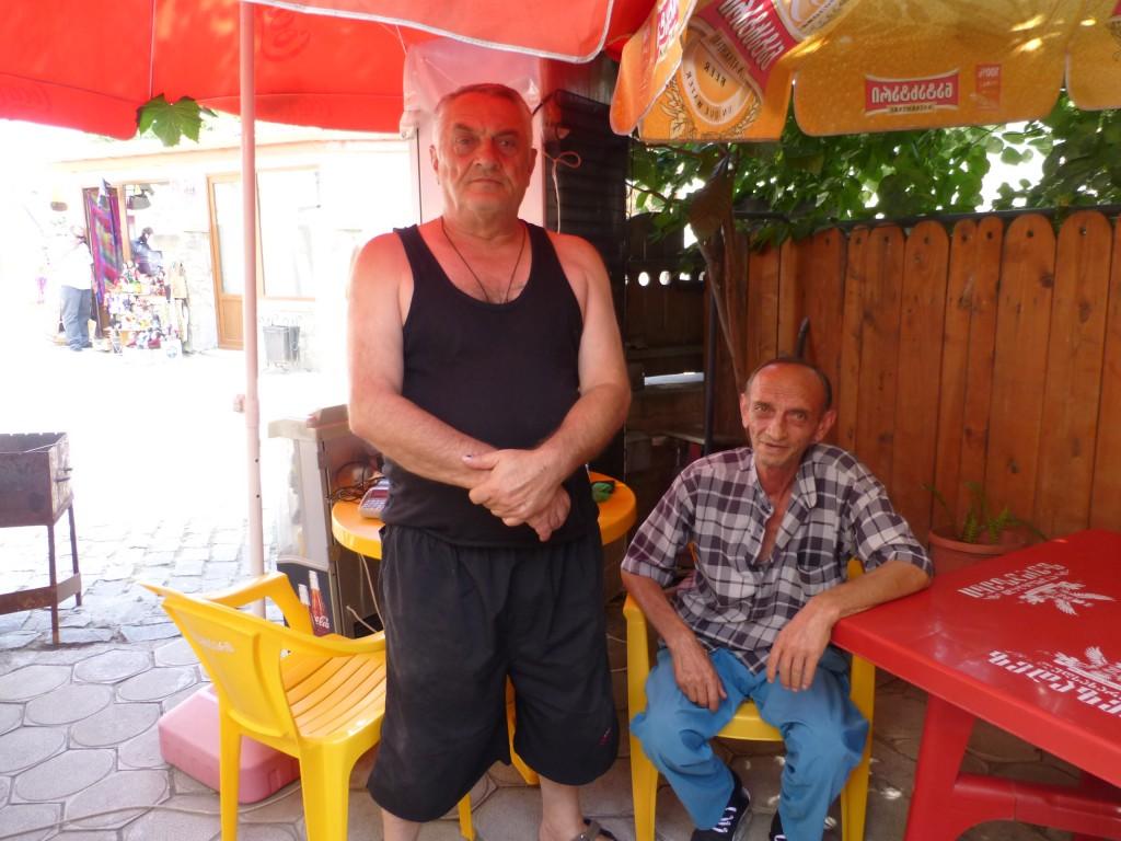 Братья, хозяева маленького кафе в Мцхете