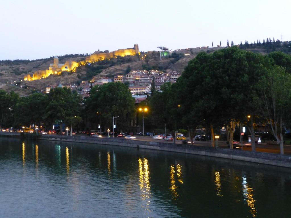 Вид на город с моста Мира