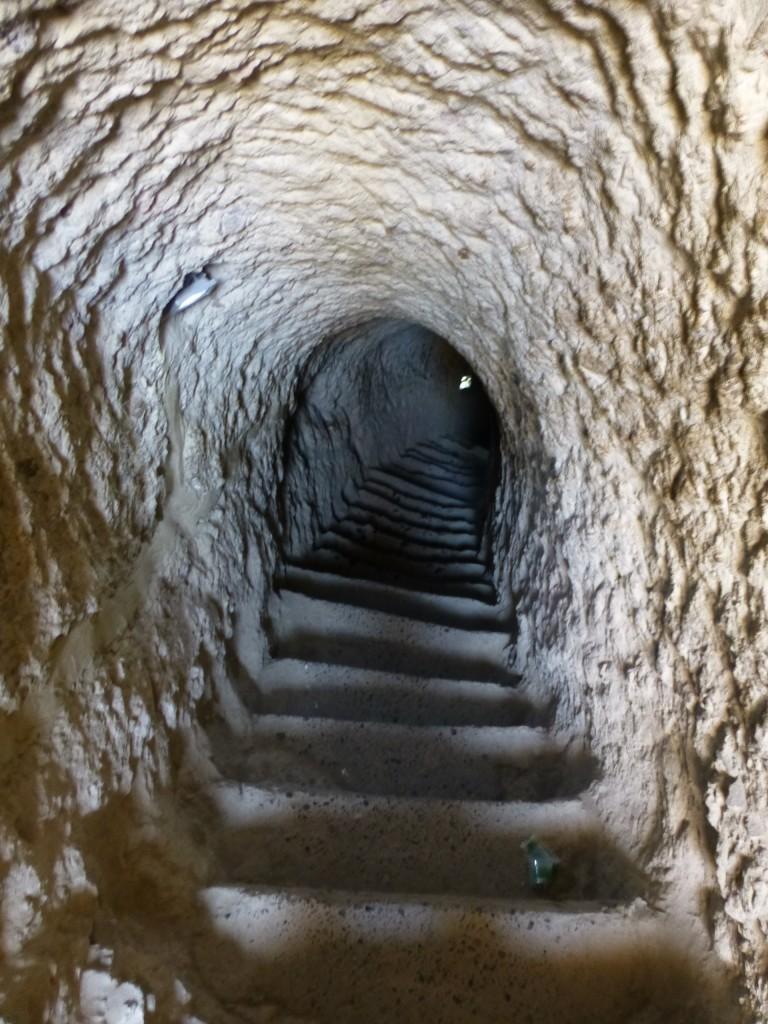 Спуск по тоннелю