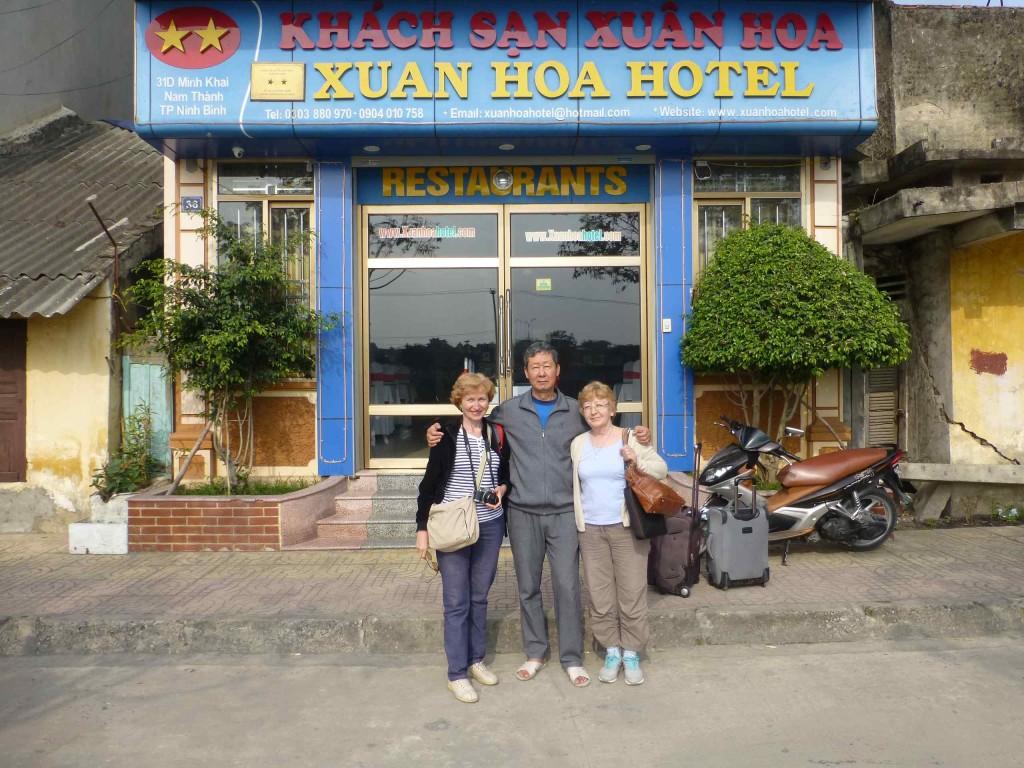Прощание с хозяином отеля