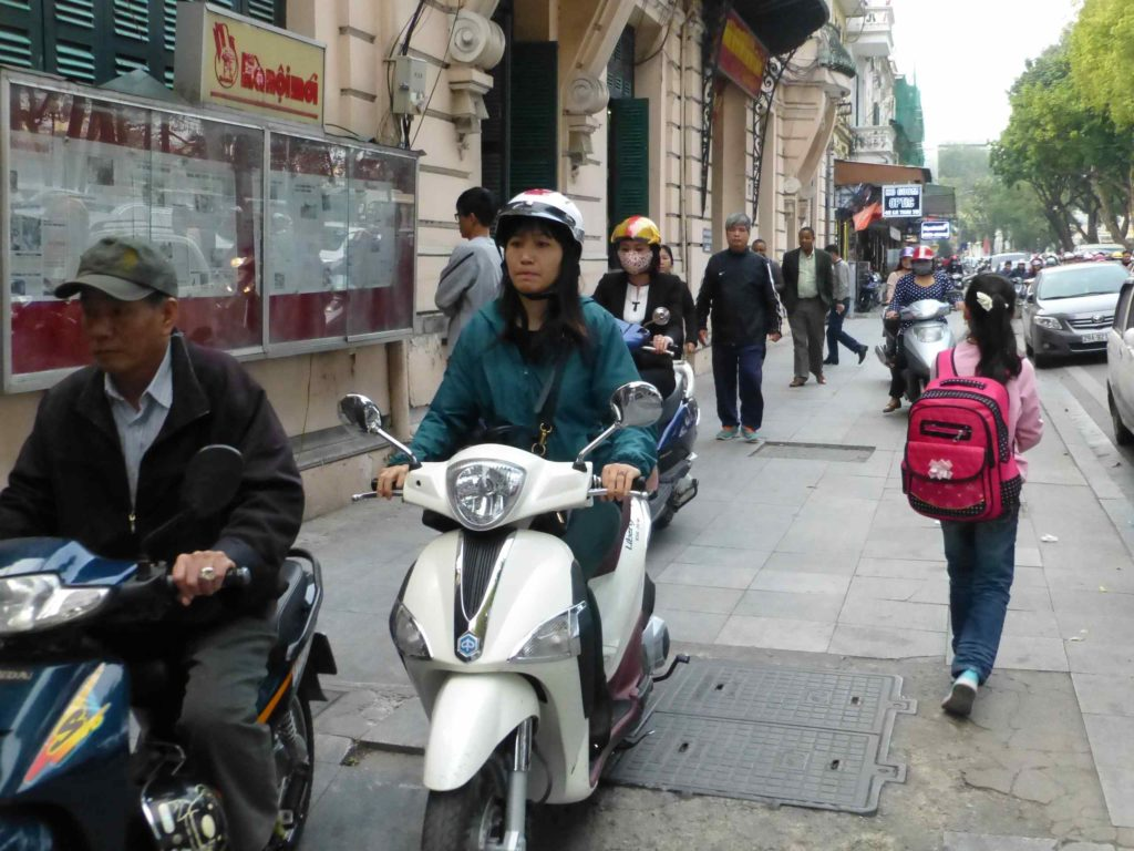 Движение по тротуару