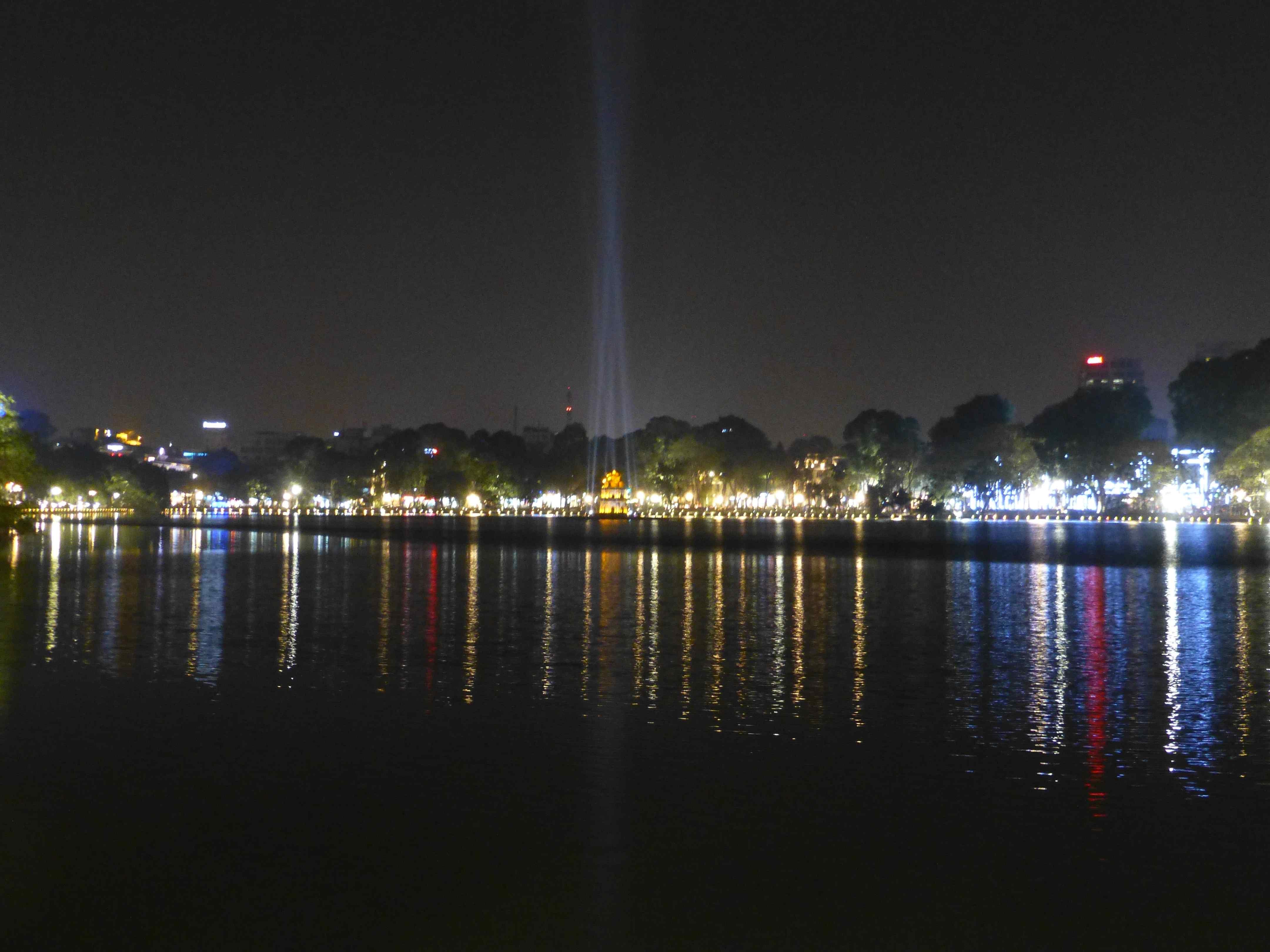 Подсветка на озере