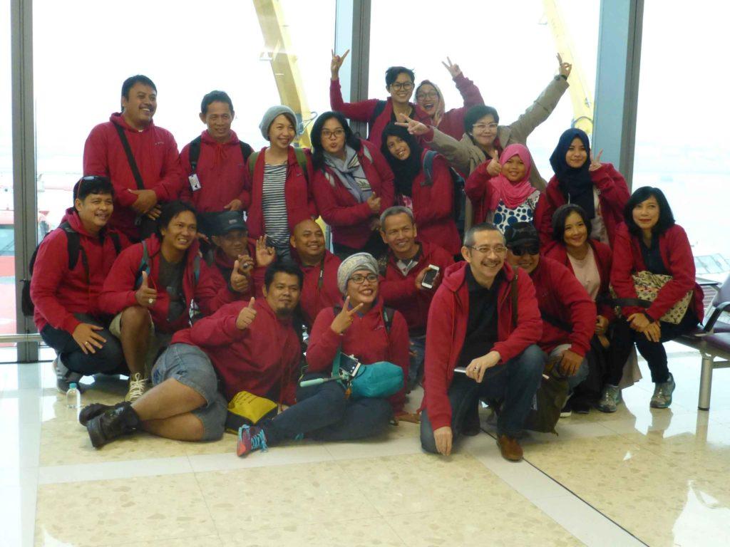 Группа индонезийцев