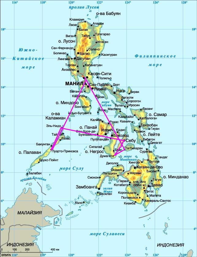 Наш маршрут по Филиппинам