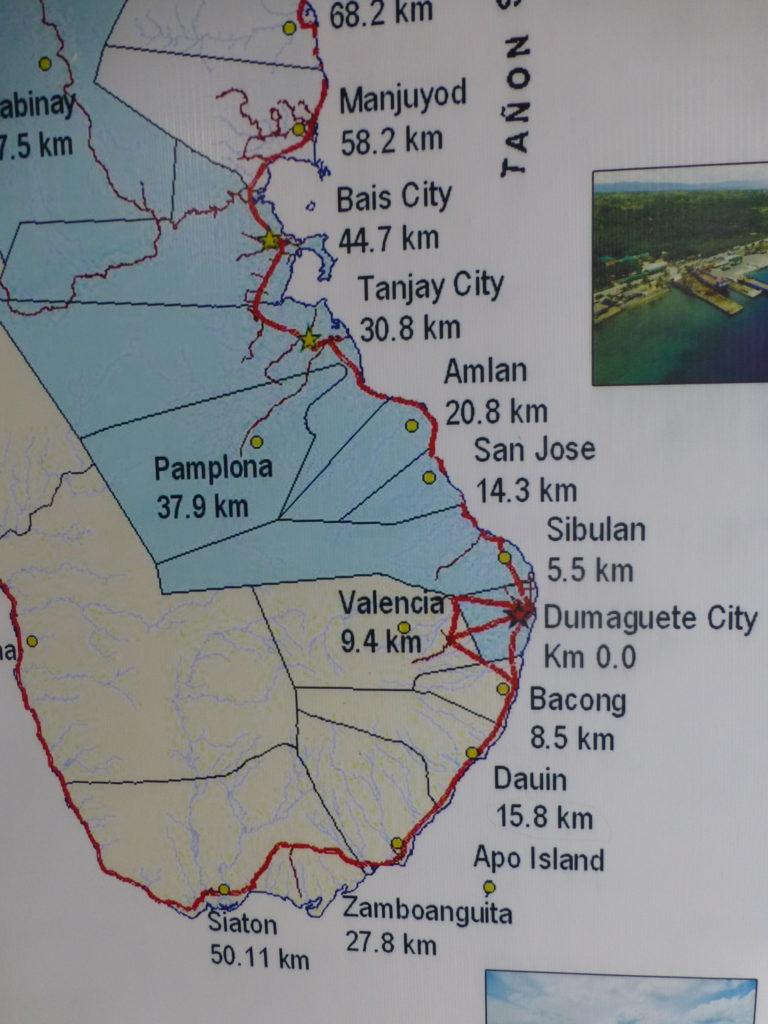 Карта юго-восточной части острова Негрос