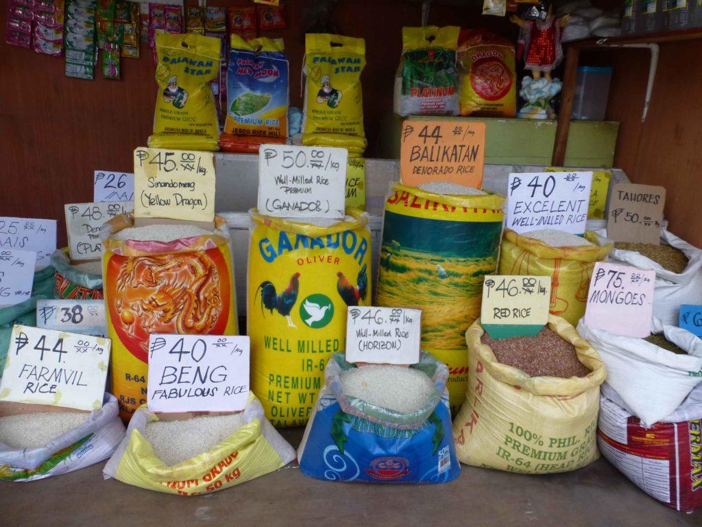 Продажа риса на рынке