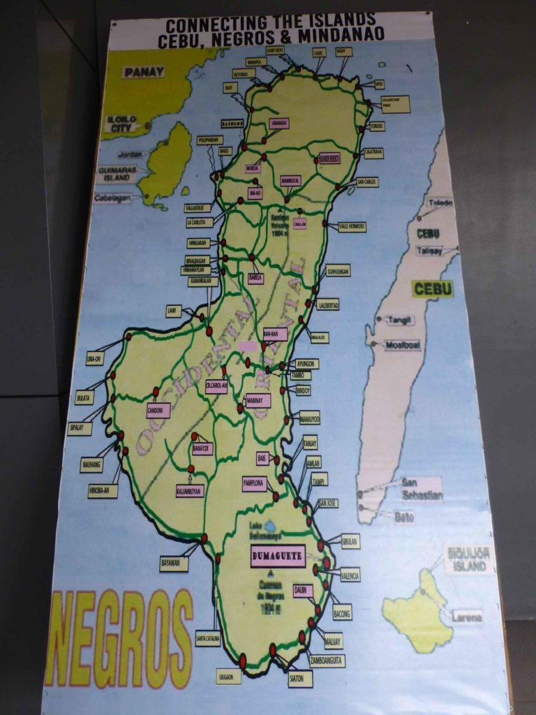 Схема маршрутов по о.Негрос