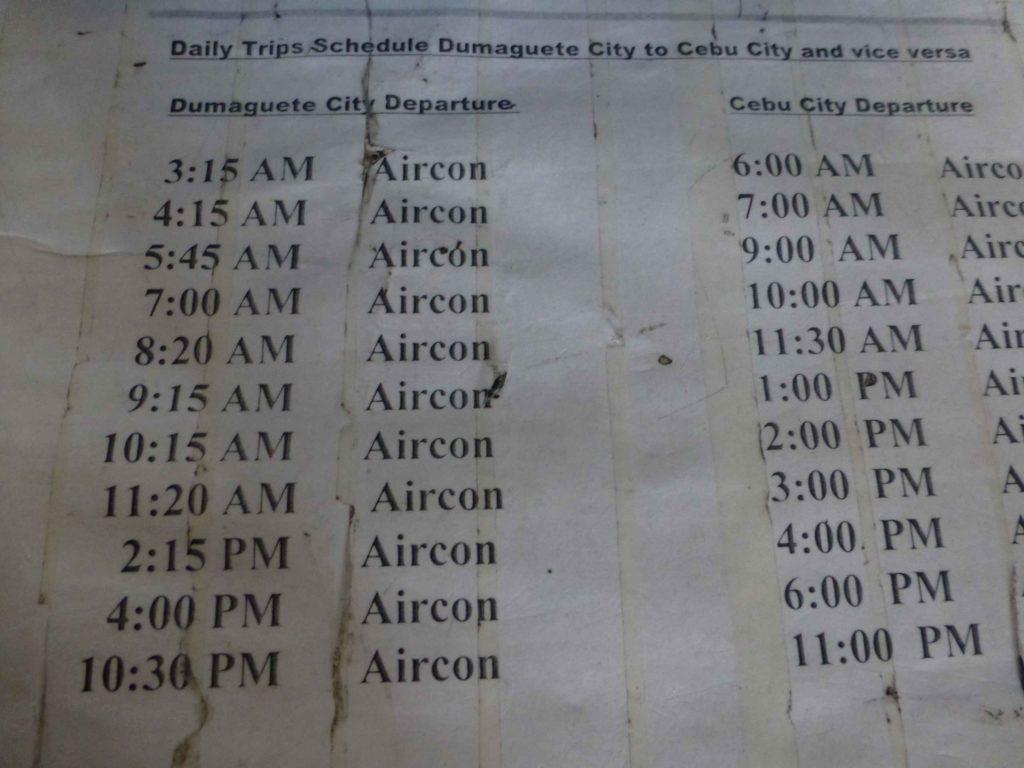 Расписание автобусов на Себу