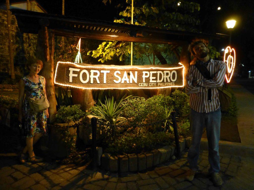 Возле входа в форт