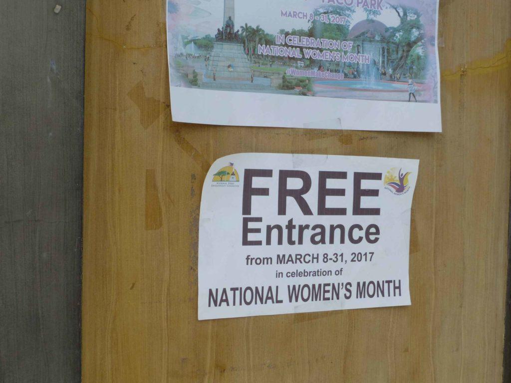 В честь 8 марта - вход свободный до конца месяца