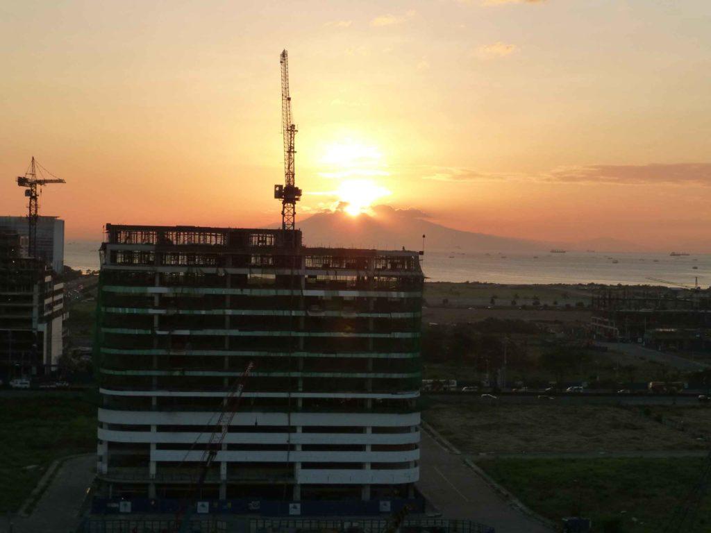 Закат с нашего балкона