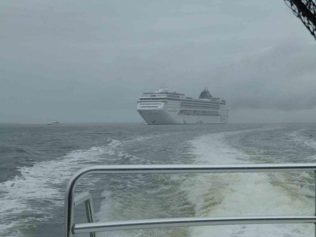 Наш корабль на рейде Белиза