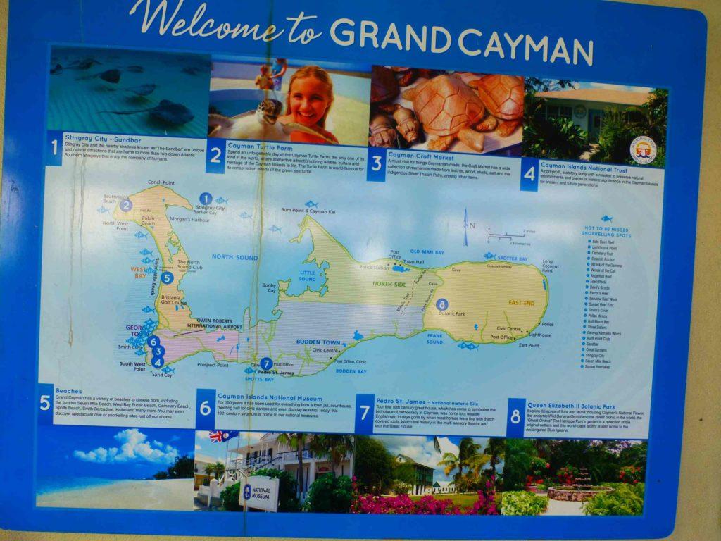 Карта острова с обозначением достопримечательностей 1