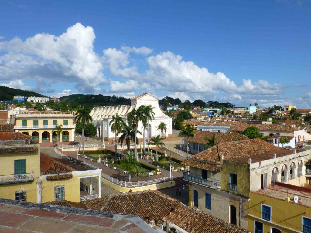 Вид с крыши на центральную площадь