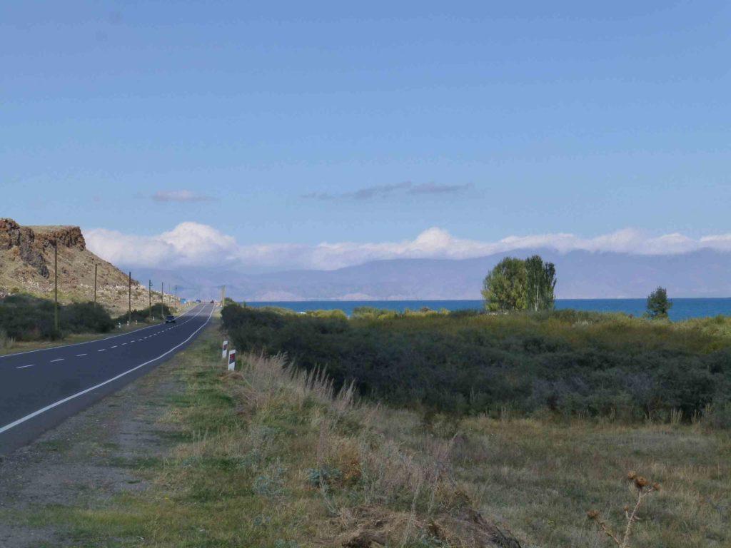 Дорога вдоль Севана