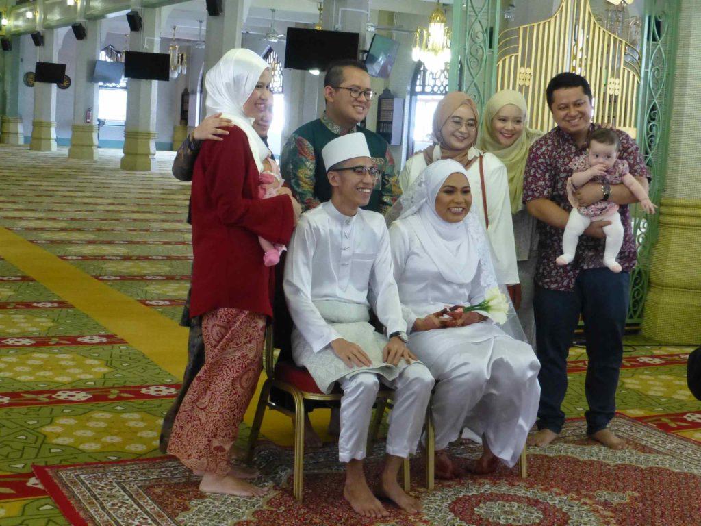 Свадьба малайцев в мечети